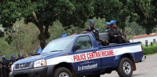 New vehicles like these were provided for the use of the police in Bangui. Photo: BINUCA/Balepe Mokosso Dany
