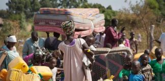 Refugees who fled the recent violence in South Sudan (AP Photo/Rebecca Vassie)