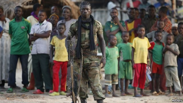 A Seleka fighter close to the border of the DR Congo