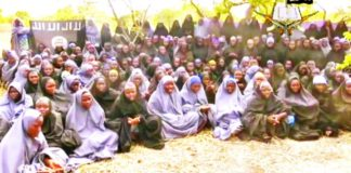 """Schoolgirls captured by Boko Haram. The Comoros officials banned a march for """"bring back our girls""""."""