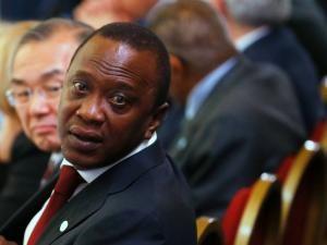 Kenyan President Uhuru Kenyatta (foreground). File picture: Andrew Winning