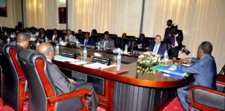 Pictures sent by State House of Sata addressing Cabinet