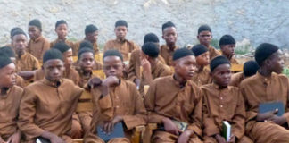 A photo posted on Radio Al-Furqaan website shows young children siting at a centre purportedly for disadvantaged youth opened by al-Shabaab in Barawe on June 29th.
