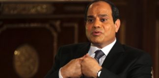 Abdel Fatah al-Sisi stated that there are no Egyptian planes or troops in Libya. Photograph: Amr Dalsh/Reuters