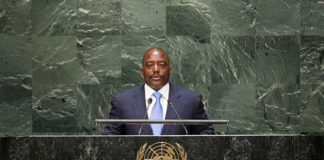 Joseph Kabila, President of the Democratic Republic of the Congo, addresses the general debate of the sixty-ninth session of the General Assembly. UN Photo/Cia Pak