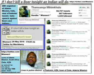 If I don't kill a Boer tonight, an Indian will do - Image Censorbugbear