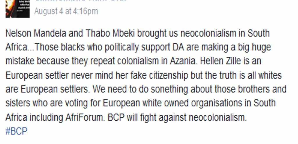 Are Black voters of the DA traitors and racist