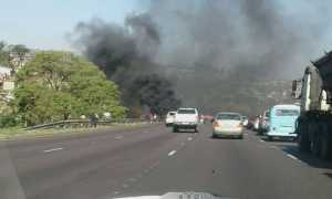 Riots on the N2 by Spaghetti junction in Durban  -Image - S A Police