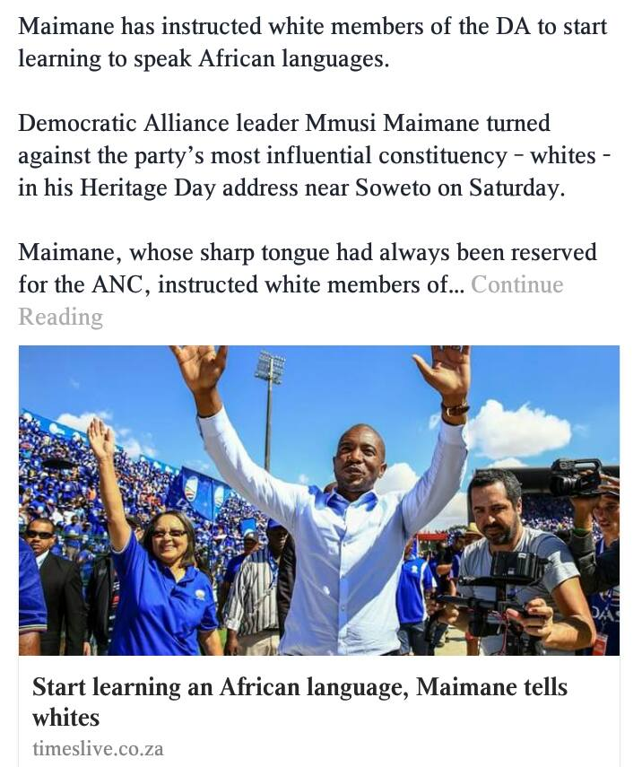 Malema and Maimane two of a kind - Image -  Front Nationaal