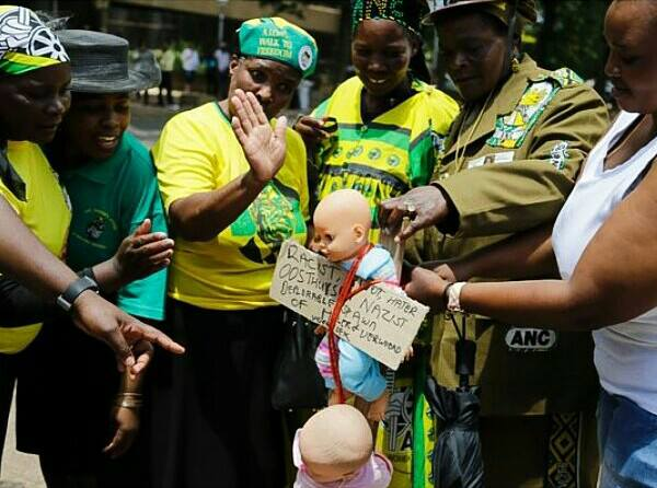 Image result for slapping white baby dolls at court