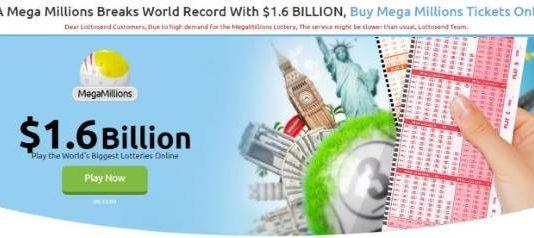 $1.6 Billion Jackpot - Lottosend's New Player Promotions Make More Sense as Mega Millions Jackpot Breaks All Records
