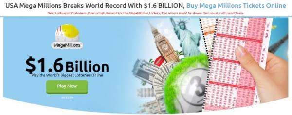 $1.6 Billion Jackpot - Lottosend's New Player Promotions Make More Sense as Mega Millions Jackpot Breaks All Records