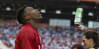Daniel Sturridge hit by a beer can England vs Honduras