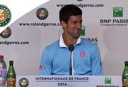 Novak Djokovic 2014 French Open