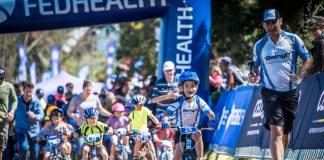 Seen here: Junior mountain bikers in action during the 2016 Fedhealth Kids MTB Events. Photo Credit: Tobias Ginsberg