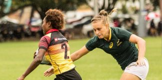 Madibaz rugby player Eloise Webb will form part of the South African women's rugby sevens team for the Commonwealth Games in Australia from April 4. Photo: Supplied