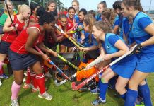 Five Eastern Cape teams, including Hudson Park (left) and York (right), will battle it out in the provincial finals of the SPAR Eastern Cape Schoolgirls Hockey Challenge at Woodridge on Saturday. Picture: Full Stop Communications