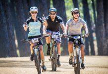Seen here: Mountain Biking enthusiasts enjoying the 2017 Origin Of Trails routes. Photo Credit: Tobias Ginsberg