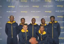 The Madibaz basketball outfit are aiming for a spot in the top four when the inaugural Varsity Basketball tournament gets underway at the Wits University Sports Hall in Johannesburg today. Pictured are (back, from left) Takudzwa Tigere, Thembelani Terrence, Mangwana Shingirayi, Matunhira Khayelithle, Ngema Denny; (front, from left) Yusrie Astrie and Mashudu George Mabata. Photo: Brittany Blaauw