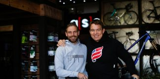 Former Springbok rugby captain John Smit (right) is looking forward to experiencing the Liberty TransCape MTB Encounter for the first time after having to pull out of last year's event. With him is top South African mountain-biker Pieter Seyffert, previous winner of the event. Photo: Daniel Coetzee/ZCMC