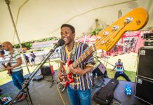 Seen here: Stone Jets' Given Nkanyane performing at the 2018 Origin Of Trails MTB Experience. Photo Credit: Tobias Ginsberg