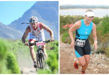 Seen here (left to right): Marc Price and Hayley Preen in action at XTERRA Grabouw. Photo Credit: Tobias Ginsberg / Jetline Action Photo