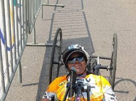 University of Johannesburg student Palesa Manaleng won the national H3 paracycling title in the South African road championships in Pretoria this month. Photo: Lezanne Bruwer