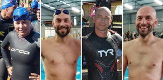 Seen here (from left to right): Team members Nicole Kannemeyer, Jacques Kannemeyer, Werner Kannemeyer and Andre Kannemeyer will take part in the 2019 Sanlam Cape Mile brought to you by Sanlam Investments in the 500m team relay category.