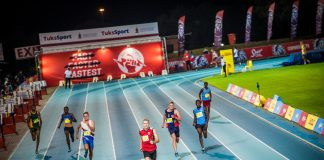 Seen here: Junior track & field stars in action at the PUMA School of Speed in Pretoria in 2018. Photo Credit: Tobias Ginsberg
