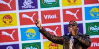 Seen here: Lloyd Cele performing at the PUMA School of Speed #4 (Pretoria). Photo Credit: Tobias Ginsberg