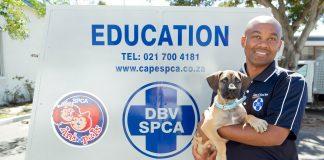 Seen here: Thembi Nomkala, Cape of Good Hope SPCA Education Officer.