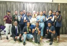 The Madibaz karate team retained their title in the University Sport South Africa tournament which was held in Grahamstown at the end of June. Photo: Supplied