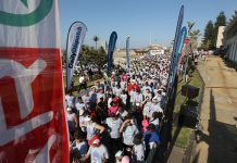 Almost 2 500 participants enjoyed the vibe of the occasion when the SPAR Daily Dispatch Fun Run was held in East London on Sunday. Photo: Mark Andrews