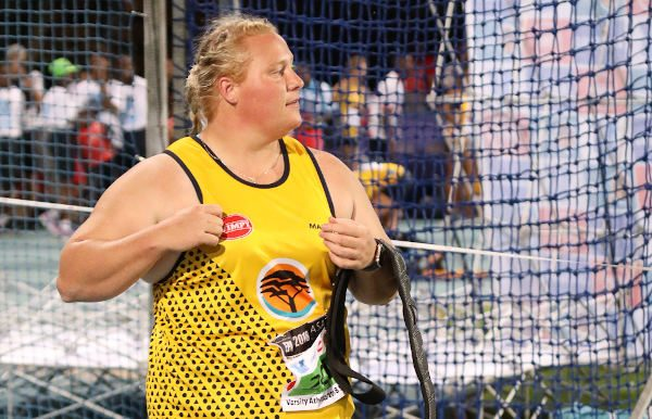 Field athlete Ischke Senekal was named the Sportswoman of the Year at the Madibaz Sport annual awards gala function this month. Photo: Henry Marsh Photography