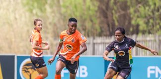 Amanda Mthandi was named the Sportswoman of the Year at the University of Johannesburg Sports Awards function at the Rand Park Golf Club in Johannesburg on Thursday night. Photo: Barco Greeff