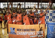 The University of Johannesburg were crowned Varsity Basketball champions after defeating UP-Tuks in the final at Wits in Johannesburg yesterday. Earlier this year UJ also won the University Sport South Africa tournament. Photo: Catherine Kotze/SASPA