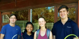 Part of the Madibaz tennis squad
