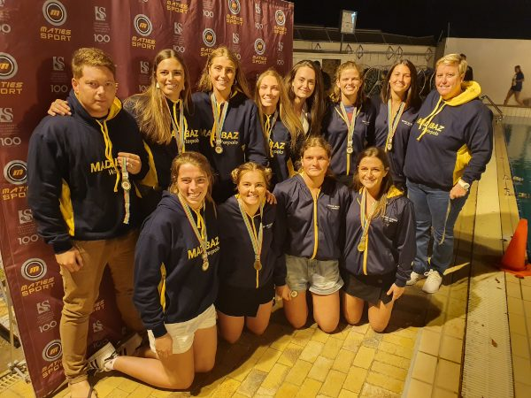 The Madibaz women's team which claimed bronze at the University Sport South Africa water polo tournament
