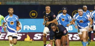 FNB Madibaz hooker Temba Boltina prepares to control possession during a match in the Varsity Shield last year