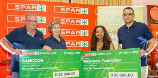 SPAR Eastern Cape made donations of R35 000 to the beneficiaries at the annual Charity Golf Day