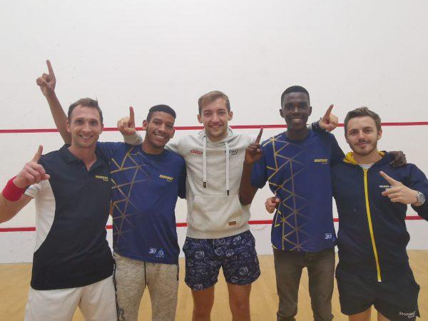 The Madibaz team which clinched the Eastern Province Super League men's squash title