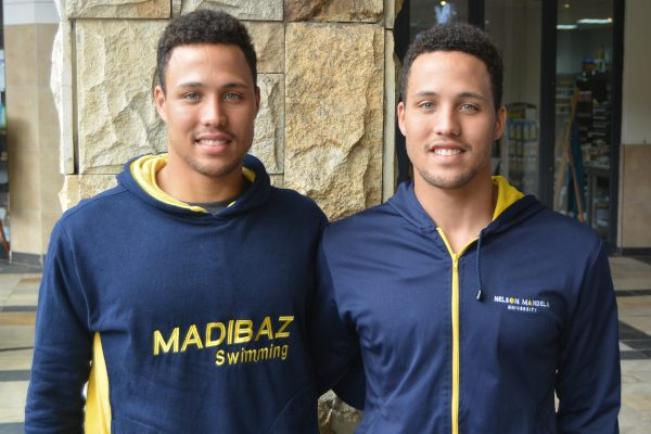 Madibaz swimming twins Alard (left) and Alaric Basson are working hard to maintain their fitness levels during the 21-day Covid-19 lockdown.
