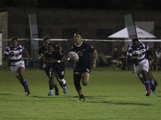 FNB Madibaz player Merlynn Pieterse goes on a run during their Varsity Shield match against Rhodes in Grahamstown earlier this year.