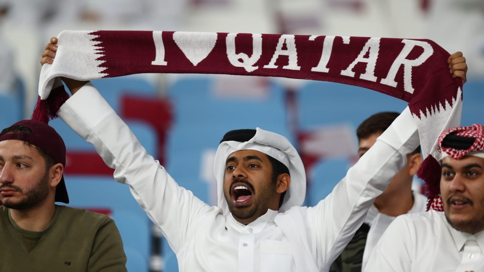 A Qatar supporter