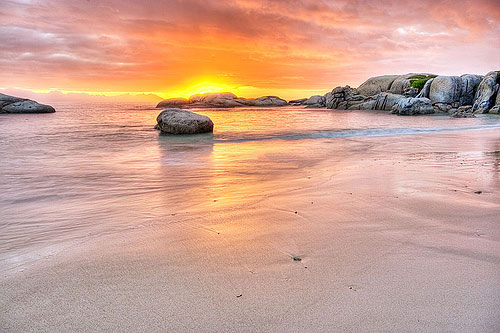 South Africa beach sunset