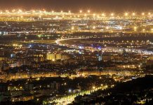 Barcelona Spain Night