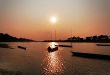 Sunset in Assam, India
