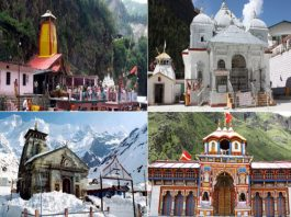 The tour Map during your visit in the Char Dham Yatra
