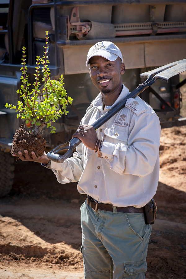 Julius Mmkhize ranger at Samara conservation -   spekboom