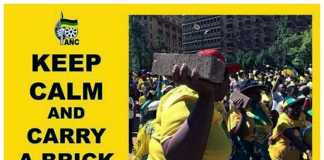 ANC - South Africa - Keep calm and carry a brick